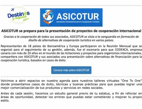 ASICOTUR se sitúa a la vanguardia de la cooperación turística formando a sus asociados en financiación de proyectos turísticos